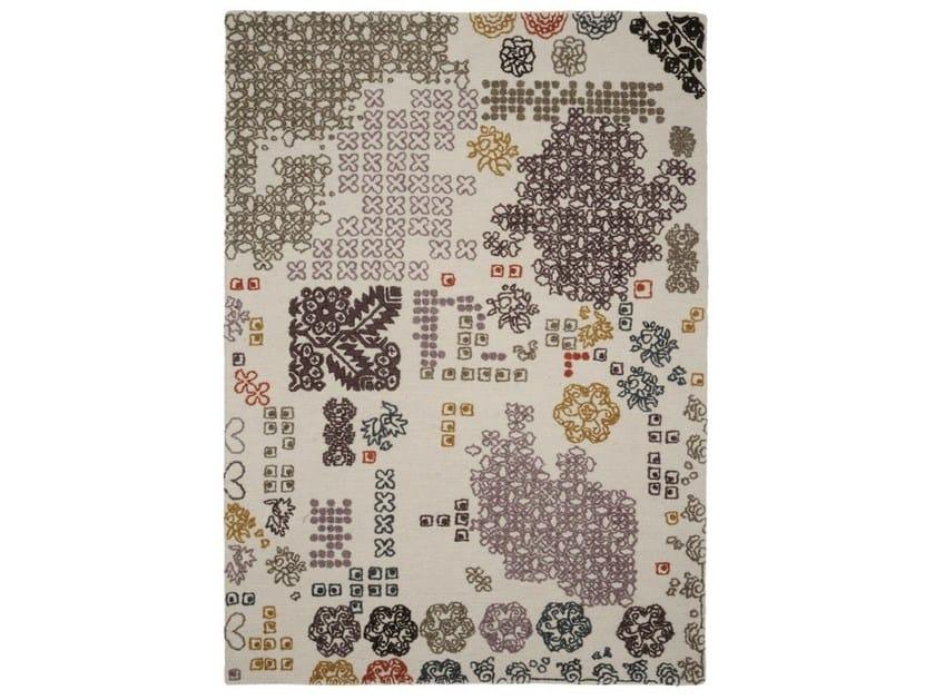 Handmade wool rug RAGA - Warli