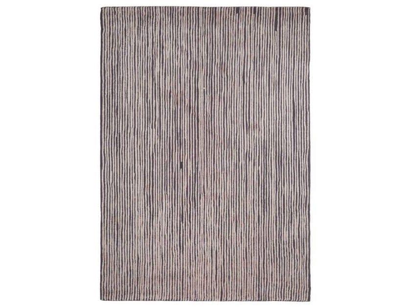 Handmade striped rug SCRAPES - Warli