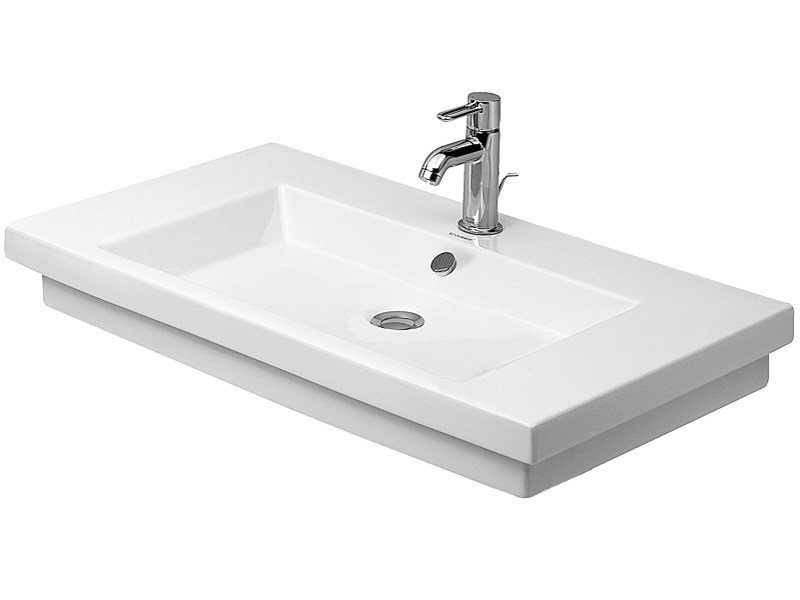 Rectangular grinded single washbasin 2ND FLOOR | Grinded washbasin - DURAVIT