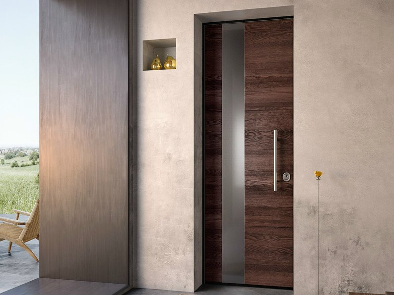 Steel and wood safety door SOVRANA | Steel and wood entry door - GAROFOLI