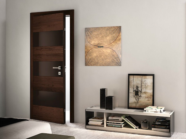 Wenge safety door BISYSTEM | Safety door - GAROFOLI