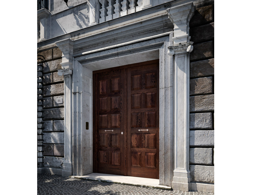 Chestnut safety door SOVRANA | Entry door - GAROFOLI