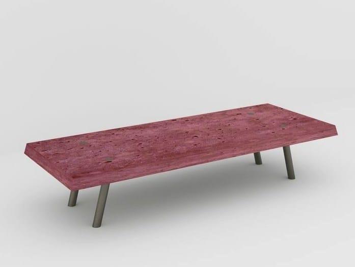 Fiber-reinforced concrete coffee table LA BÉTON BISEAUTÉE - MALHERBE EDITION