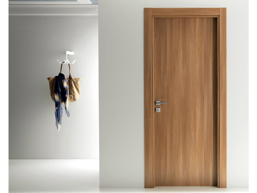 Hinged laminate door XONDA | Walnut door - GIDEA