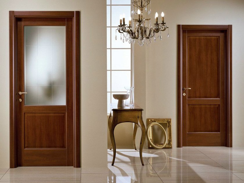 Hinged laminate door PIRAMIDE | Tuscan style door - GIDEA