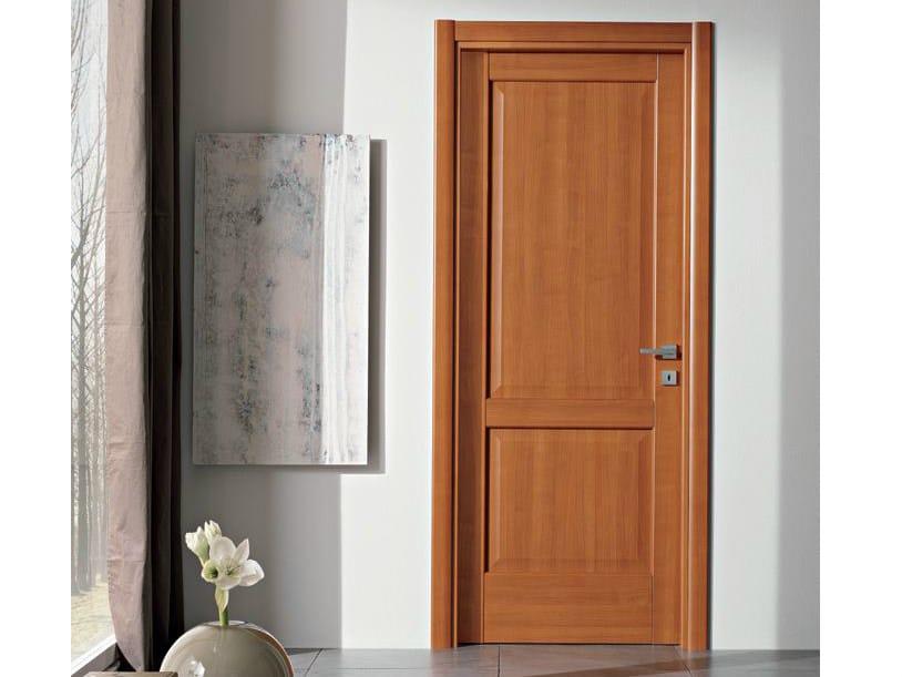 Hinged laminate door PIRAMIDE   Cherry wood door - GIDEA