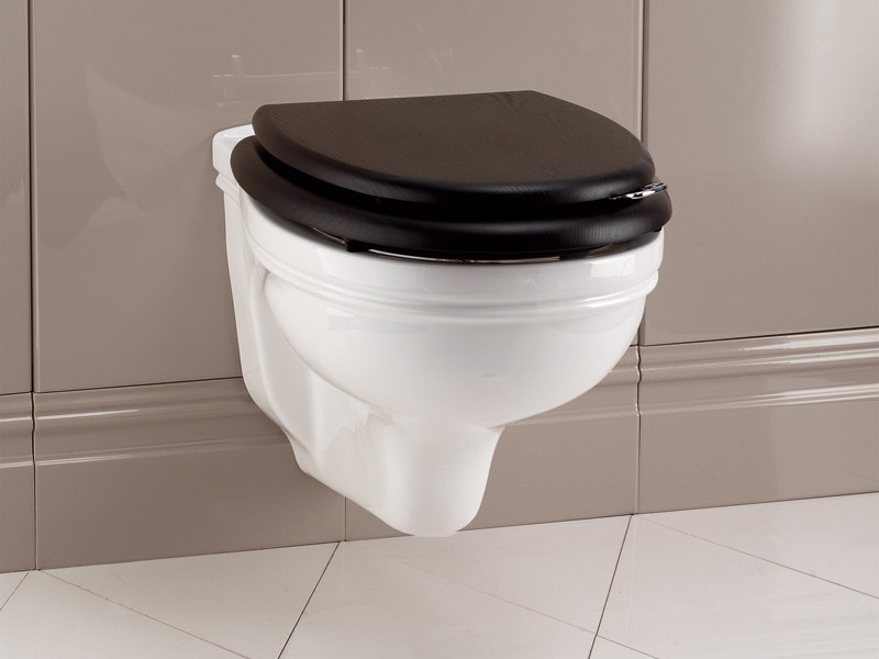 Wall-hung ceramic toilet ROSE | Wall-hung toilet by Devon&Devon