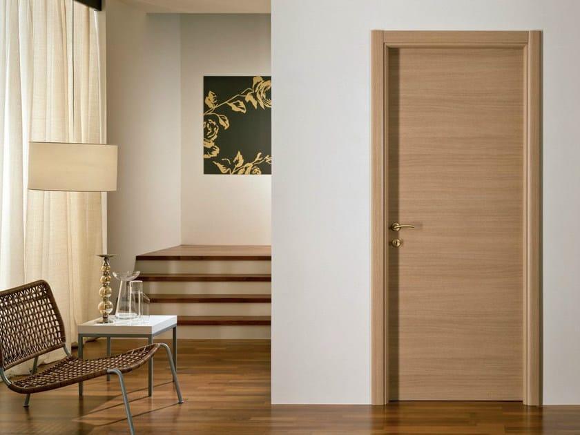 Hinged melamine-faced chipboard door XOSIA | Oak door by GIDEA