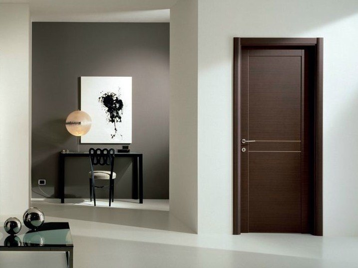 Hinged laminate door GENIA | Wenge door - GIDEA
