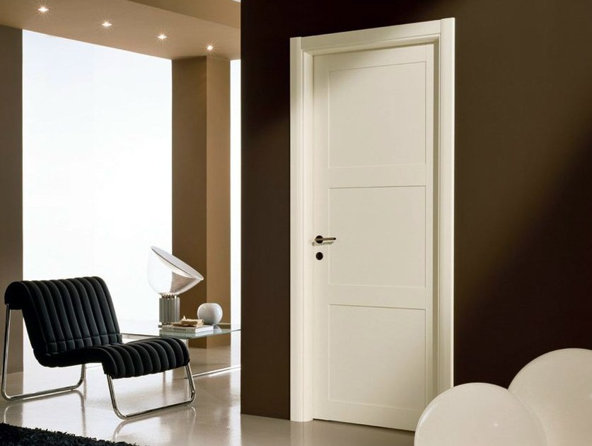Hinged lacquered laminate door GENIA | Lacquered door by GIDEA