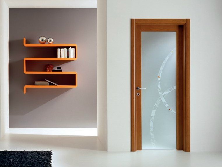 Hinged decorated glass door GENIA | Decorated glass door by GIDEA