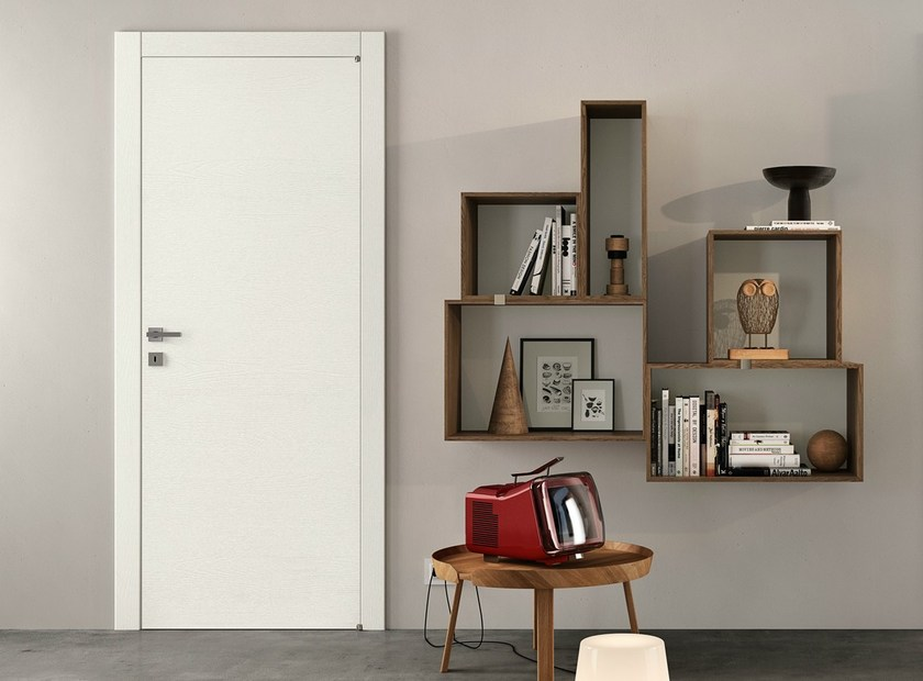 Hinged lacquered laminate door GRAIN | Lacquered door - GIDEA