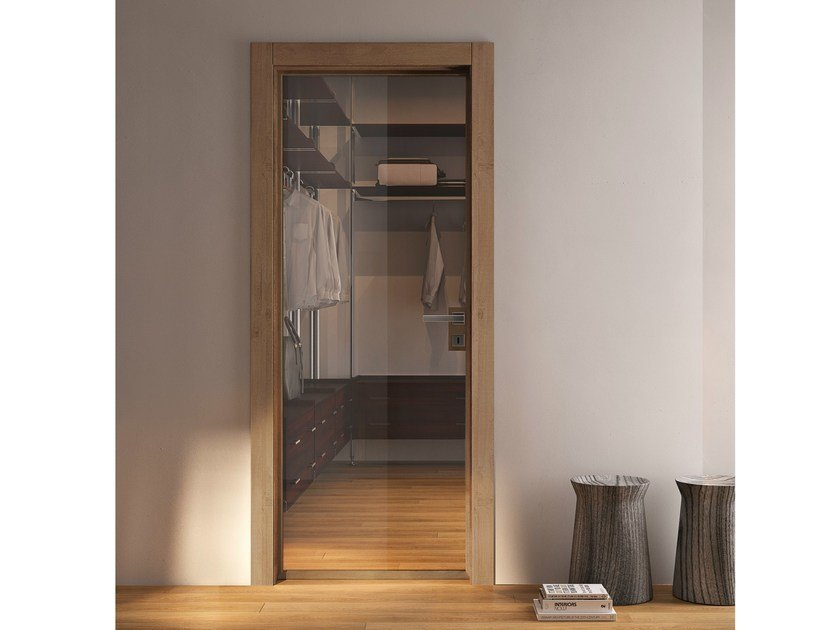 Hinged glass door GRAIN | Glass door - GIDEA