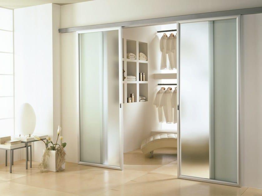 Porta scorrevole in vetro satinato antha porta for Puerta corrediza externa
