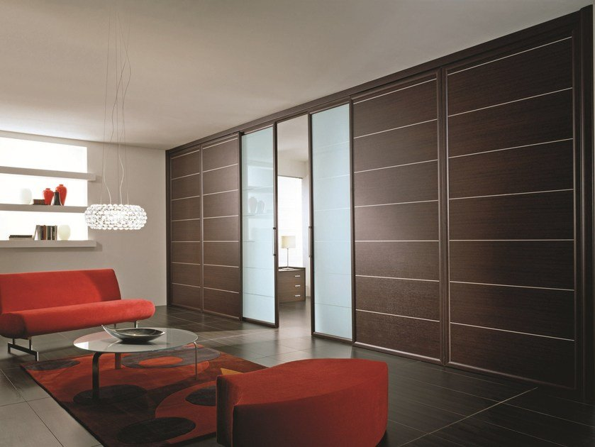 Sliding laminate partition wall ANTHA | Laminate partition wall - GIDEA