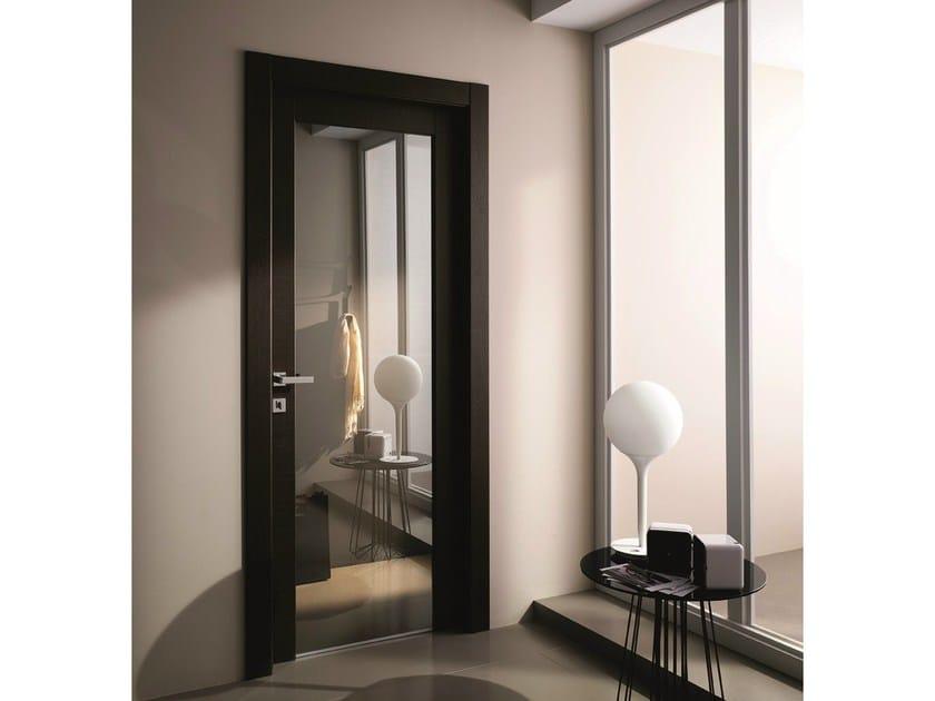 Porta a battente in vetro a specchio stilia porta in - Porte con specchio ...