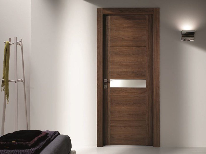 Hinged laminate door STILIA | Walnut door - GIDEA