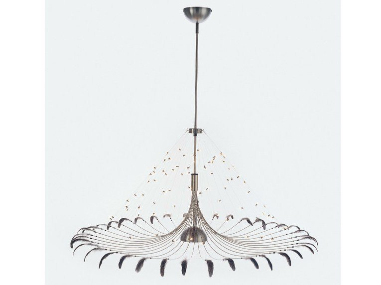 Halogen metal pendant lamp BIRD - Quasar