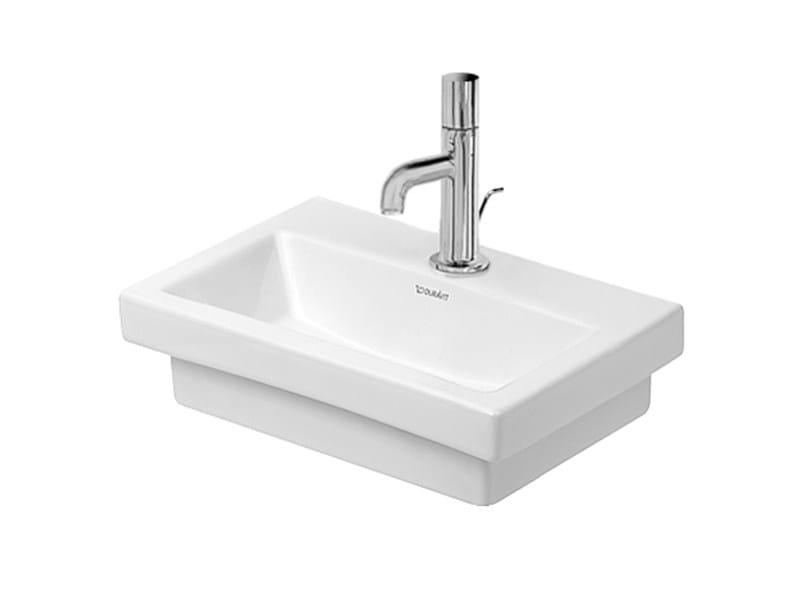 Countertop rectangular ceramic handrinse basin 2ND FLOOR | Countertop handrinse basin by Duravit