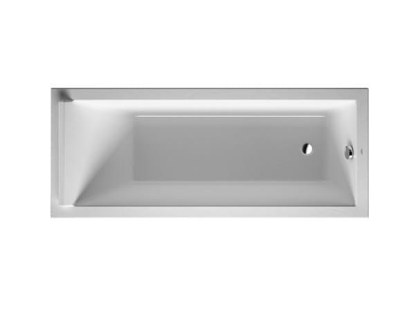 Rectangular acrylic bathtub STARCK   Acrylic bathtub - DURAVIT