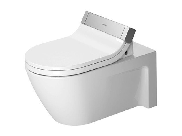 Wall-hung ceramic toilet STARCK 2 | Toilet by Duravit