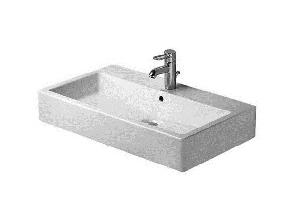 Rectangular ceramic washbasin with overflow VERO | Washbasin with overflow - DURAVIT