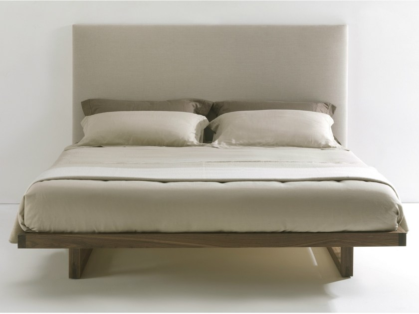 Wooden double bed with upholstered headboard BAM BAM SOFT - Riva 1920