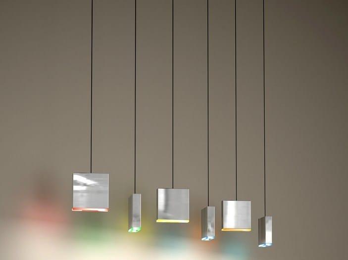 LED direct light aluminium pendant lamp MATCH 6 | LED pendant lamp by Quasar