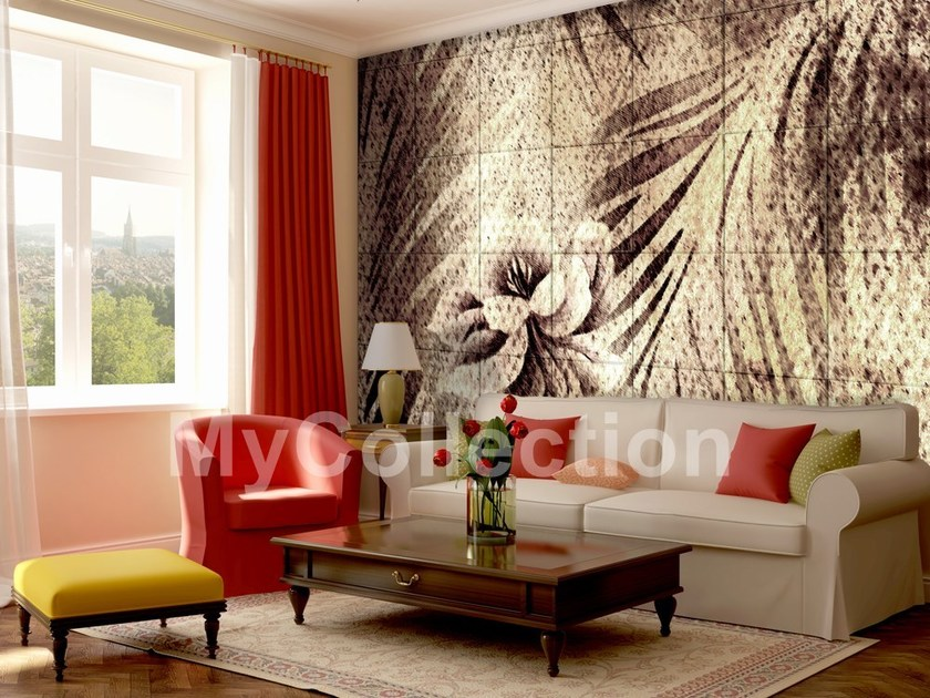 Wallpaper with floral pattern AMAZZONIA by MyCollection.it