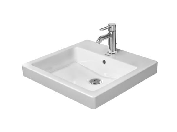 vasque encastrer rectangulaire en c ramique collection vero by duravit italia. Black Bedroom Furniture Sets. Home Design Ideas