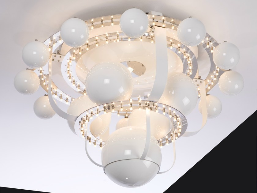 Halogen metal ceiling lamp ROYAL BB | Ceiling lamp - Quasar