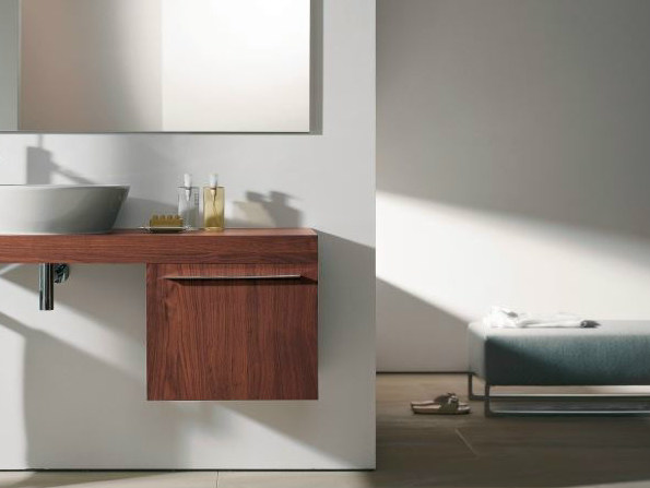 Single suspended bathroom cabinet FOGO | Bathroom cabinet - DURAVIT