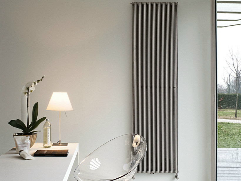 Vertical wall-mounted stainless steel decorative radiator IXSTEEL | Vertical decorative radiator - Tubes Radiatori