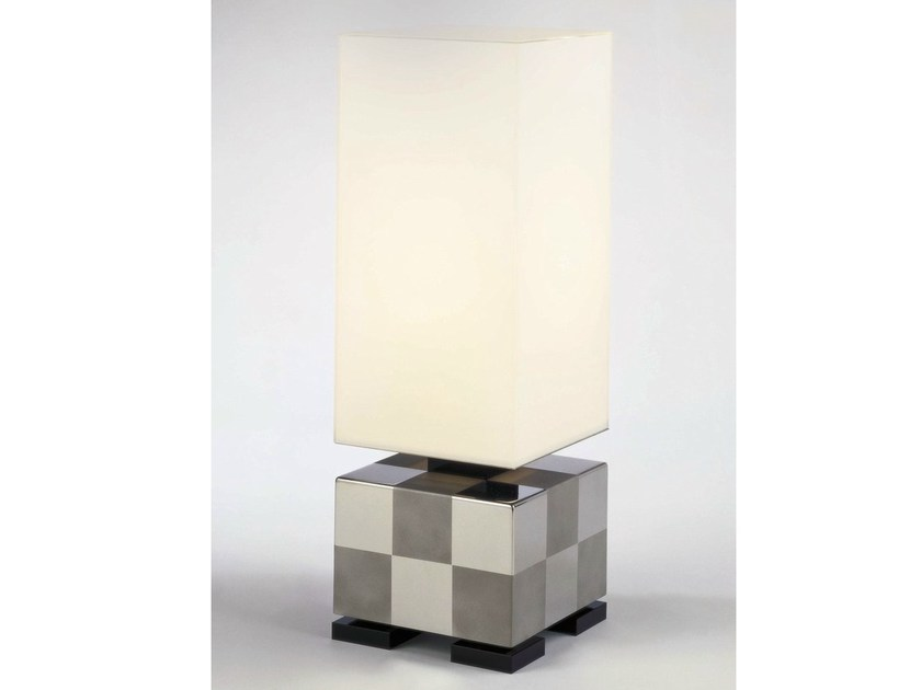 Glass and Stainless Steel table lamp EMPIRE STATE - Quasar