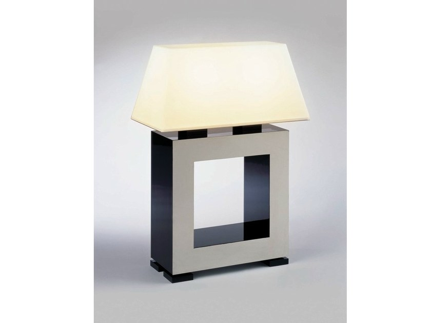 Glass and steel table lamp MADISON SQUARE by Quasar