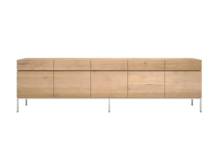 Solid wood sideboard with doors and drawers OAK LIGNA | Solid wood sideboard - Ethnicraft