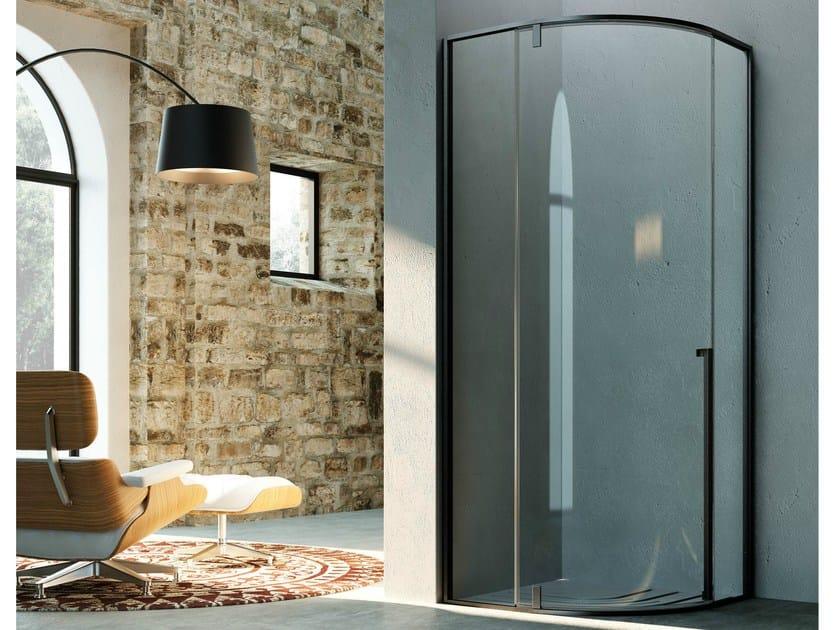 Semicircular shower cabin with pivot door KAHURI KR by Glass1989