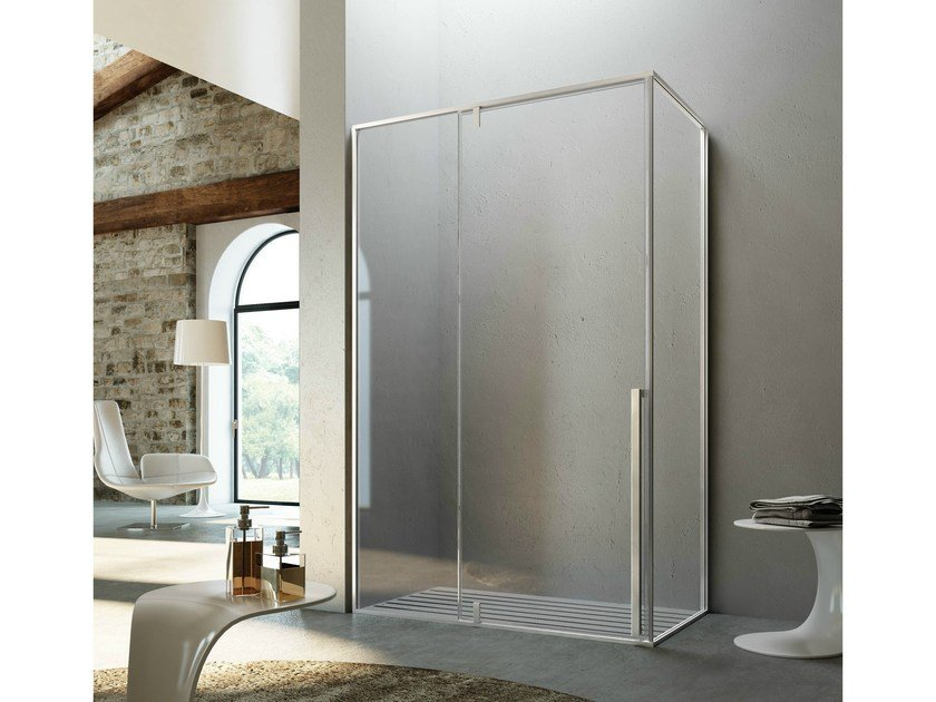 Rectangular shower cabin with pivot door KAHURI | Rectangular shower cabin - Glass 1989