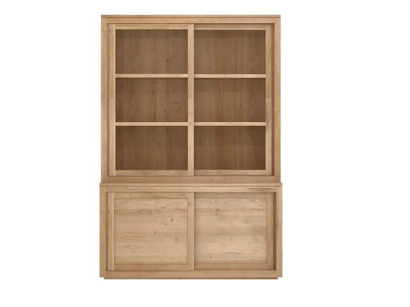 Solid wood highboard with sliding doors OAK PURE | Highboard - Ethnicraft