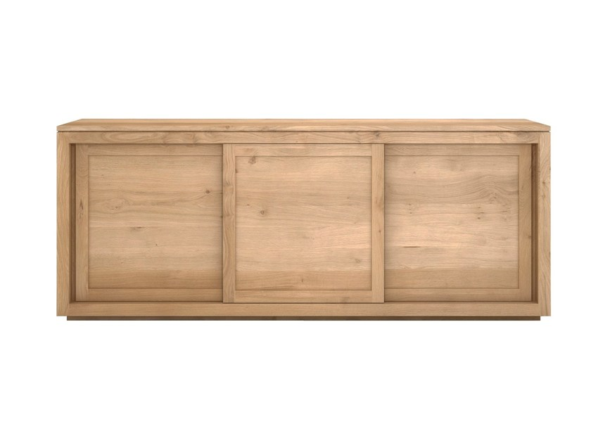 Solid wood sideboard with sliding doors OAK PURE | Solid wood sideboard - Ethnicraft