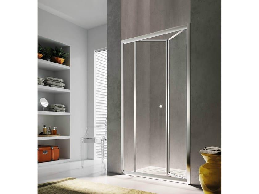 Niche shower cabin with folding door ISY | Shower cabin with folding door - Glass 1989