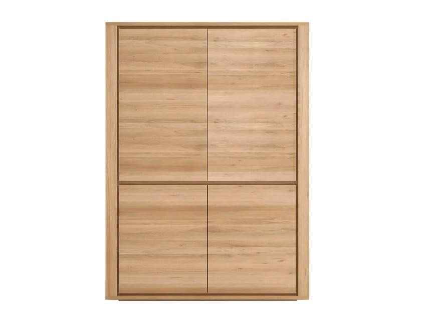 Solid wood highboard with doors OAK SHADOW | Highboard - Ethnicraft