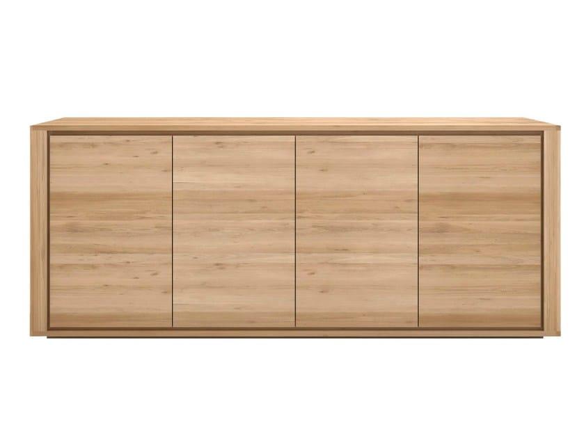 Solid wood sideboard with doors OAK SHADOW | Solid wood sideboard - Ethnicraft