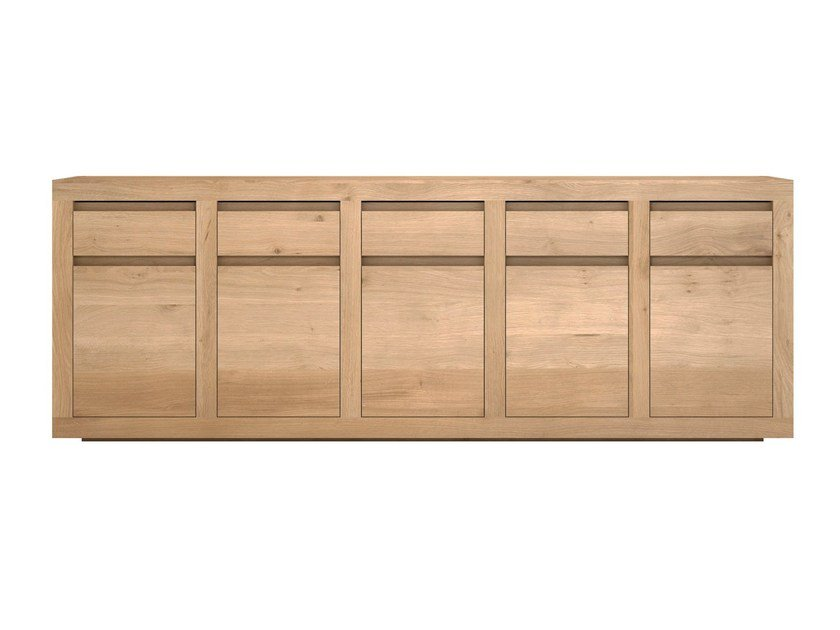 Solid wood sideboard with doors and drawers OAK FLAT | Sideboard - Ethnicraft