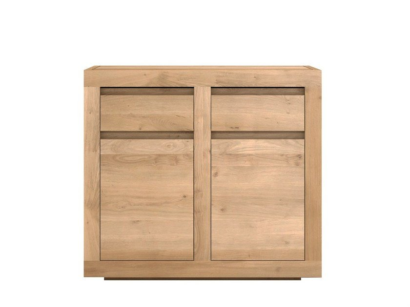 Solid wood sideboard with doors and drawers OAK FLAT | Solid wood sideboard - Ethnicraft