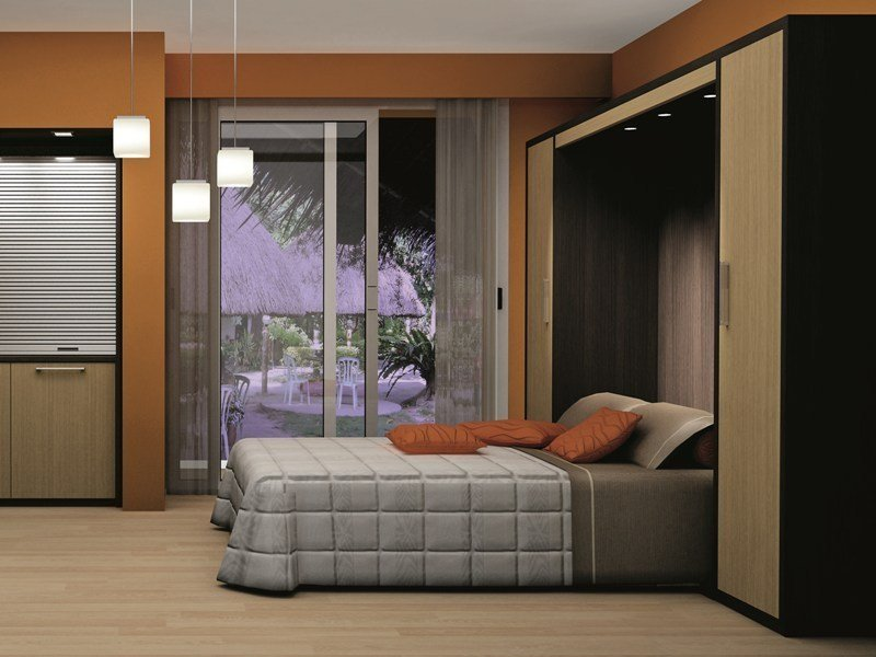 Pull-down hotel bed with cabinet ZEUS | Pull-down bed - MOBILSPAZIO Contract