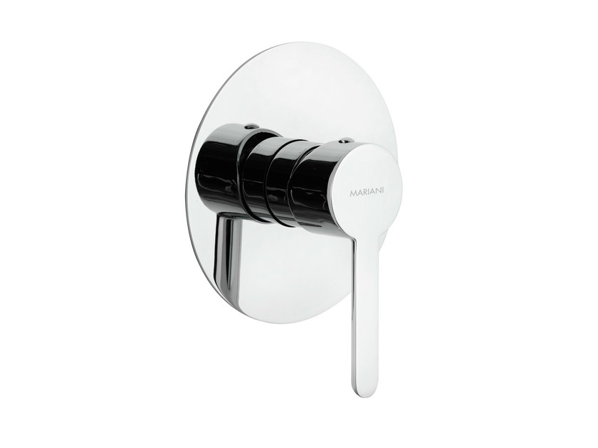 Single handle shower mixer with plate NOIR | Shower mixer - Rubinetterie Mariani
