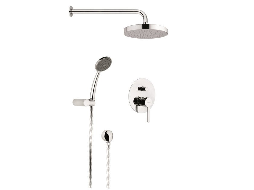 Shower set with showerhead and handshower kit NOIR by Rubinetterie Mariani