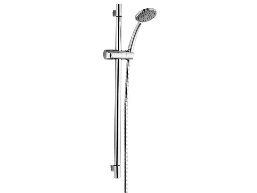 Chrome-plated shower wallbar with hand shower NOIR | Shower wallbar - Rubinetterie Mariani
