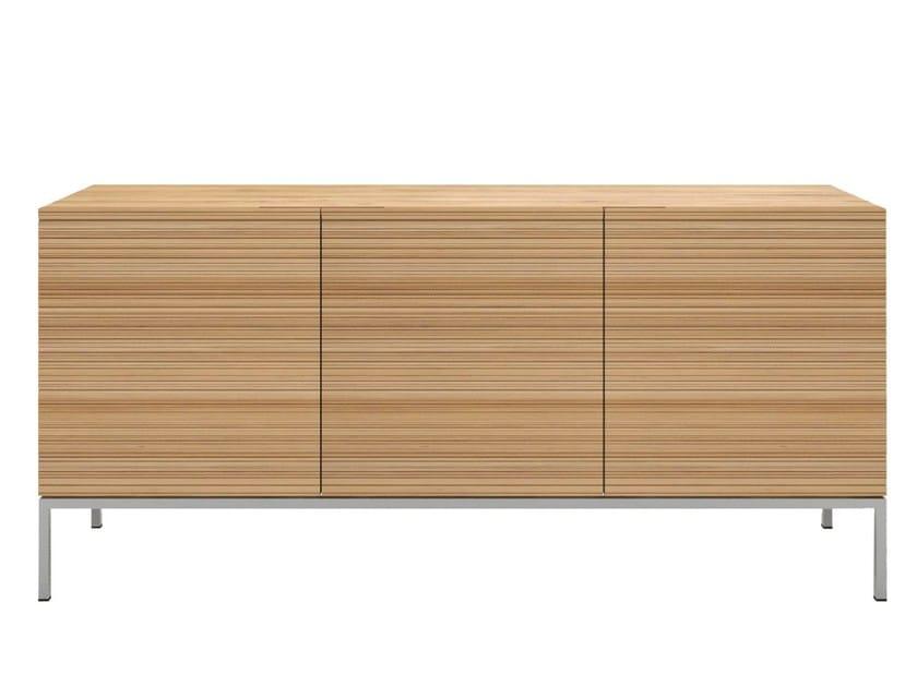 Solid wood sideboard with doors OAK STONECUT | Sideboard - Ethnicraft